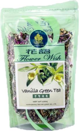 759 Ft - Big Star zöld tea (szálas) vanília virággal 100g..